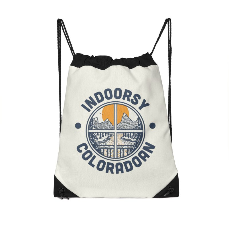 Indoorsy Coloradoan Accessories Drawstring Bag Bag by Steger