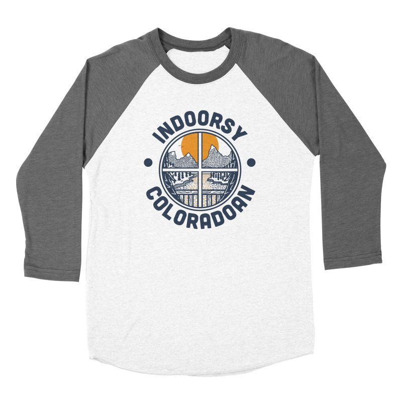 Indoorsy Coloradoan Men's Baseball Triblend Longsleeve T-Shirt by Steger