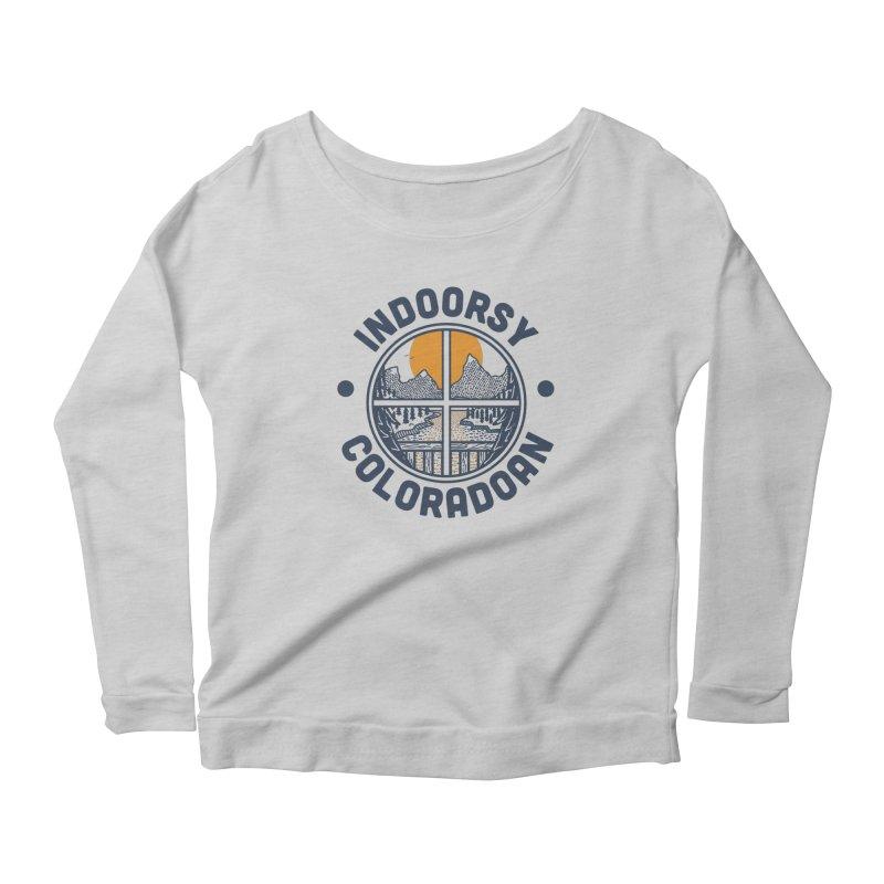 Indoorsy Coloradoan Women's Scoop Neck Longsleeve T-Shirt by Steger
