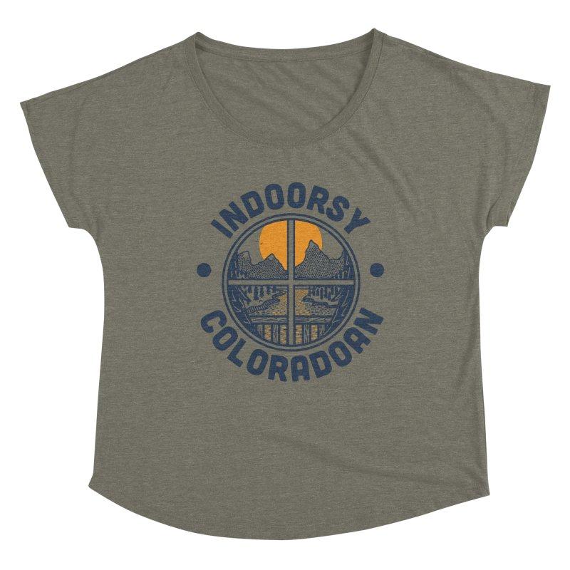 Indoorsy Coloradoan Women's Dolman Scoop Neck by Steger