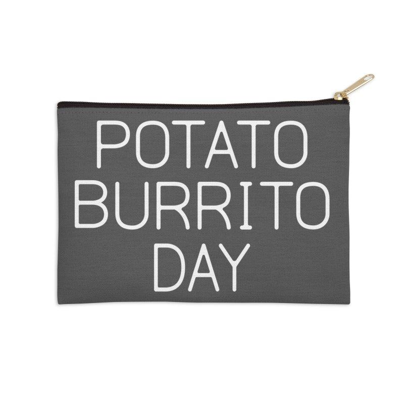 Potato Burrito Day Accessories Zip Pouch by Steger