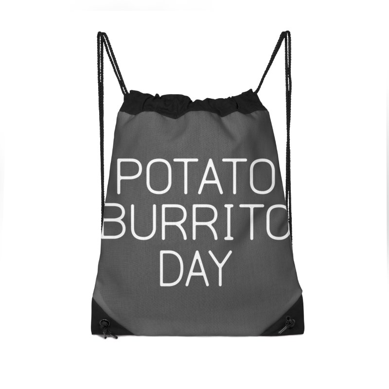 Potato Burrito Day Accessories Drawstring Bag Bag by Steger