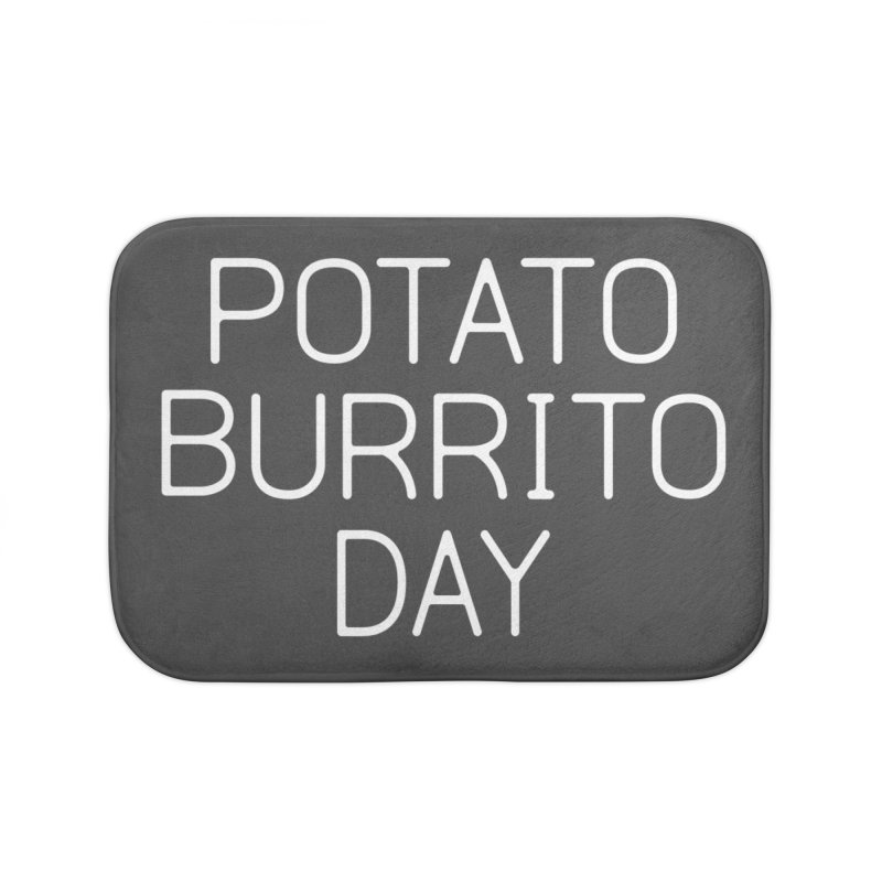 Potato Burrito Day Home Bath Mat by Steger