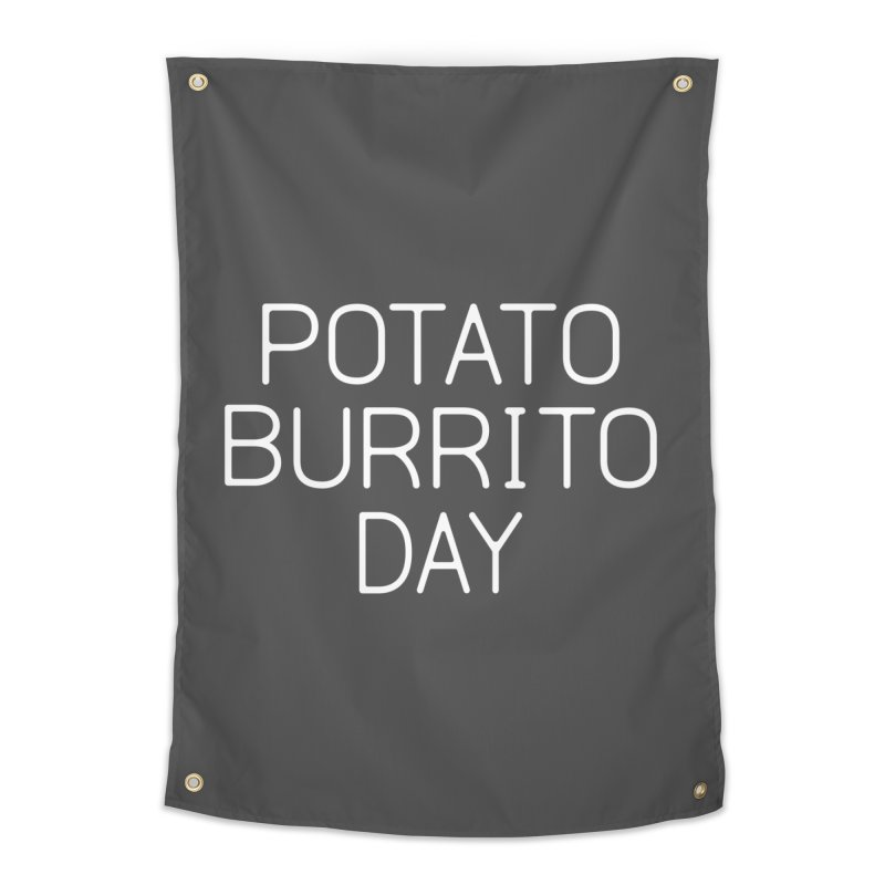 Potato Burrito Day Home Tapestry by Steger