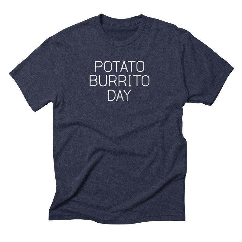 Potato Burrito Day Men's Triblend T-Shirt by Steger