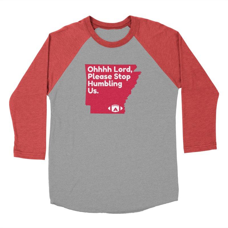 Humbled Men's Baseball Triblend Longsleeve T-Shirt by Steger