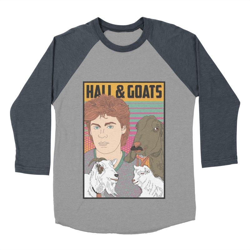 and Goats Men's Baseball Triblend Longsleeve T-Shirt by Steger