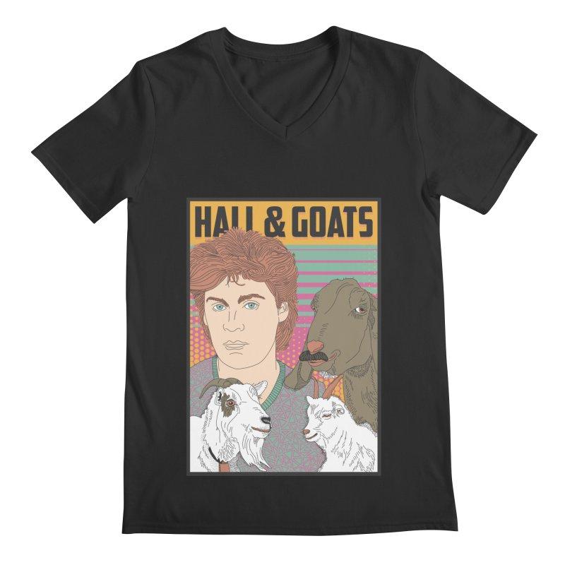 and Goats Men's Regular V-Neck by Steger