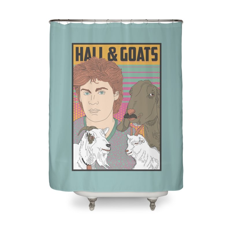 and Goats Home Shower Curtain by Steger