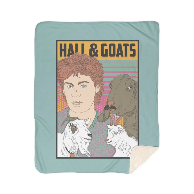 and Goats Home Sherpa Blanket Blanket by Steger