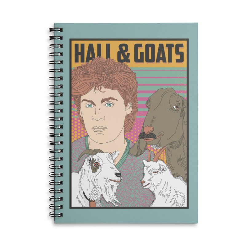 and Goats Accessories Lined Spiral Notebook by Steger