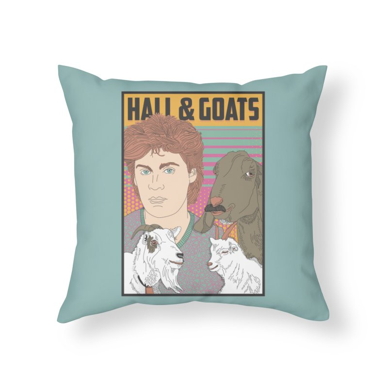 and Goats Home Throw Pillow by Steger