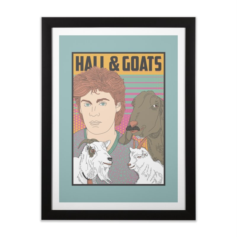 and Goats Home Framed Fine Art Print by Steger