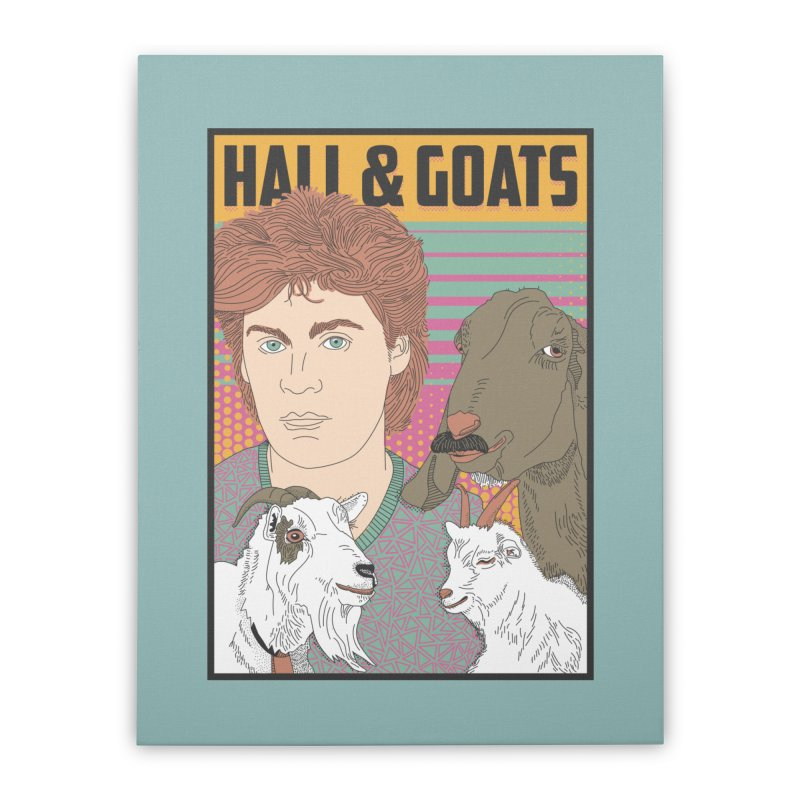 and Goats Home Stretched Canvas by Steger