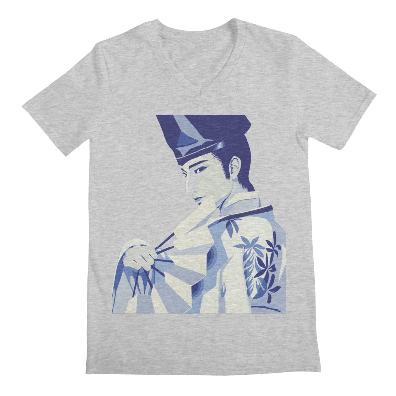 The Tale of Genji Men's V-Neck by stelart's Artist Shop