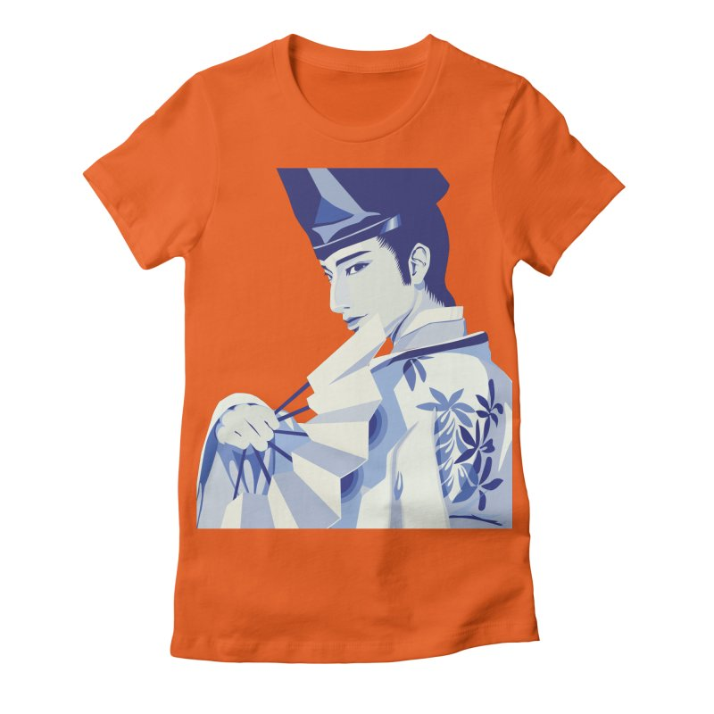 The Tale of Genji Women's Fitted T-Shirt by stelart's Artist Shop
