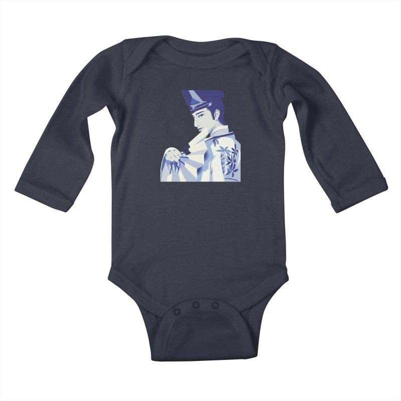 The Tale of Genji Kids Baby Longsleeve Bodysuit by stelart's Artist Shop