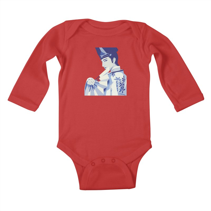 The Tale of Genji Kids Baby Longsleeve Bodysuit by stelart's Artist Shop