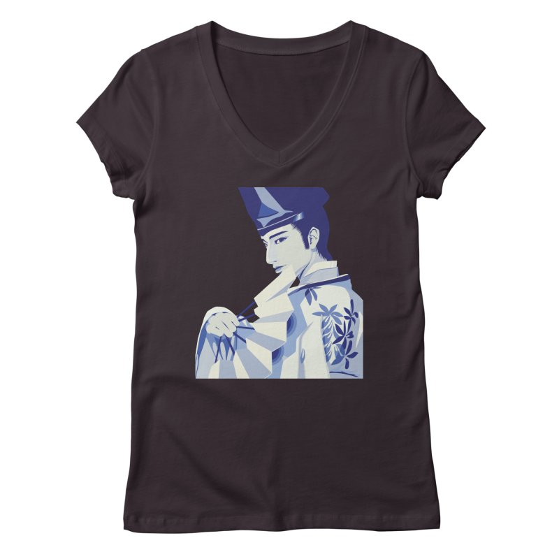 The Tale of Genji Women's V-Neck by stelart's Artist Shop
