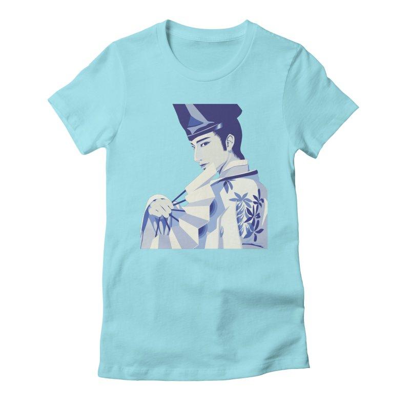 The Tale of Genji Women's Fitted T-Shirt by stelart's Artist Shop