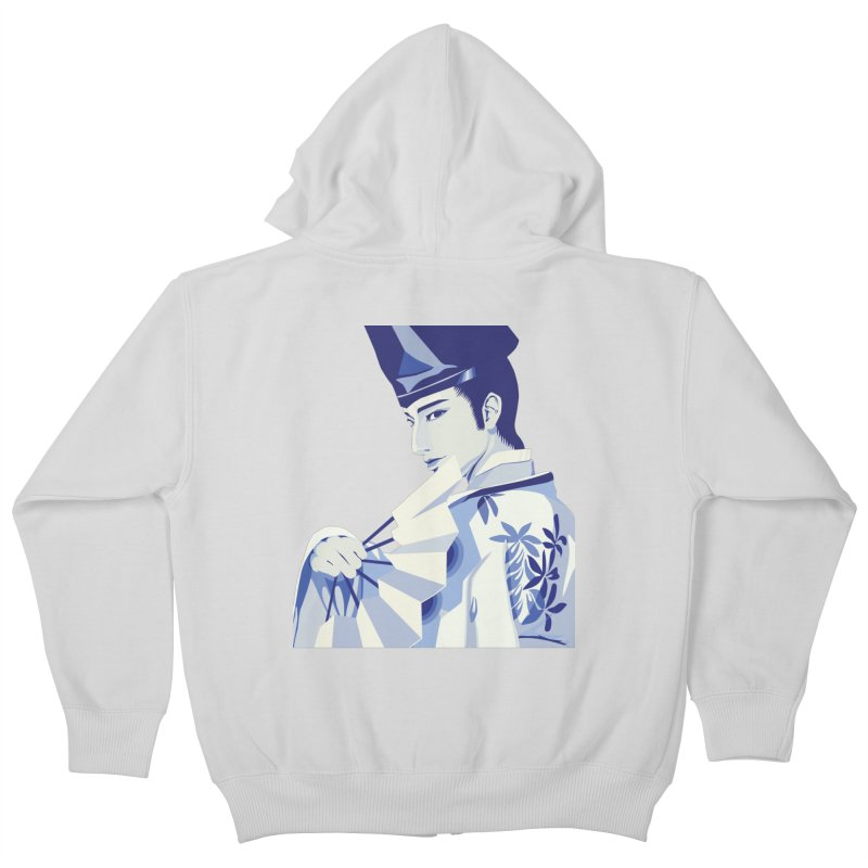 The Tale of Genji Kids Zip-Up Hoody by stelart's Artist Shop