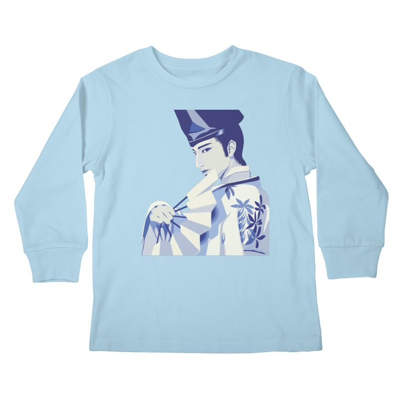 The Tale of Genji Kids Longsleeve T-Shirt by stelart's Artist Shop