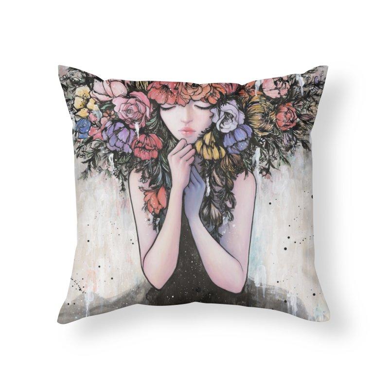 Hiding the Blue Home Throw Pillow by Stella Im Hultberg