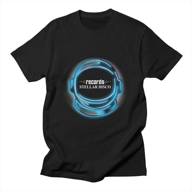 Stellar Disco Helmet Men's T-Shirt by Stellar Disco Records Merchandise