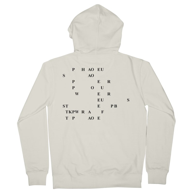 My Super Power is Stenography Men's French Terry Zip-Up Hoody by Stenograph's Artist Shop