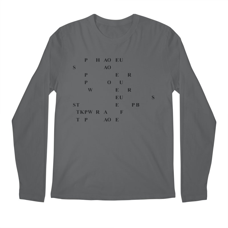My Super Power is Stenography Men's Longsleeve T-Shirt by Stenograph's Artist Shop