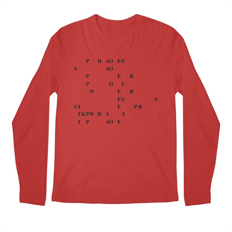 My Super Power is Stenography Men's Regular Longsleeve T-Shirt by Stenograph's Artist Shop