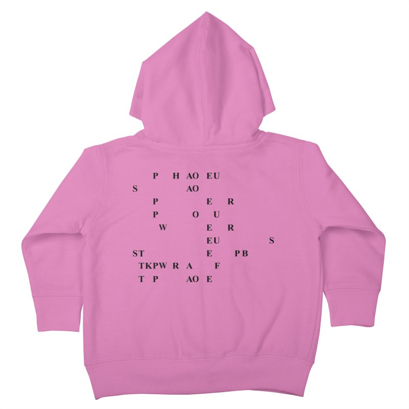 My Super Power is Stenography Kids Toddler Zip-Up Hoody by Stenograph's Artist Shop