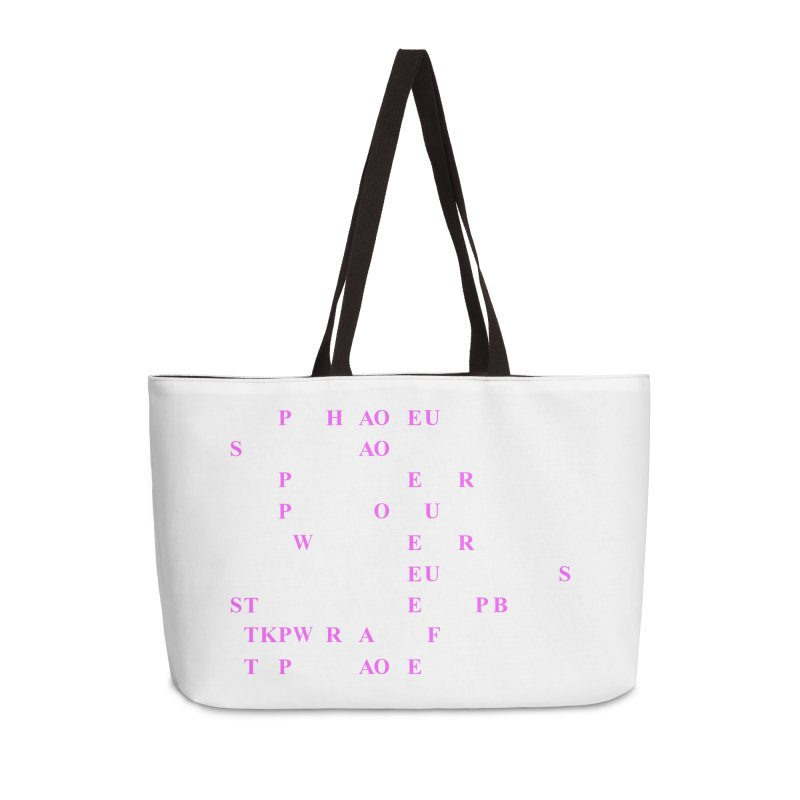 My Super Power is Stenography, Pink Accessories Weekender Bag Bag by Stenograph's Artist Shop