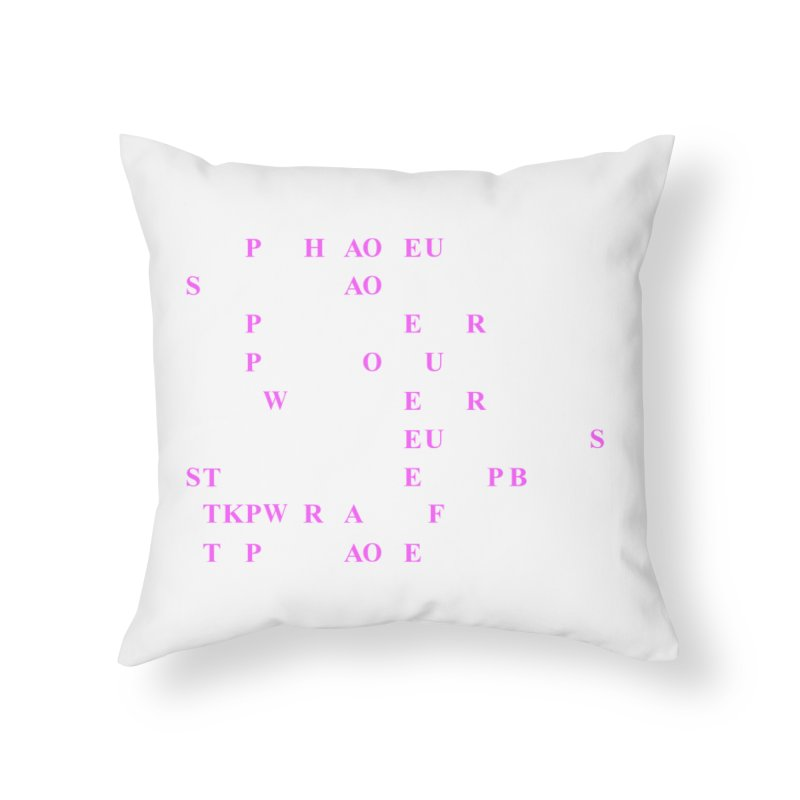 My Super Power is Stenography, Pink Home Throw Pillow by Stenograph's Artist Shop