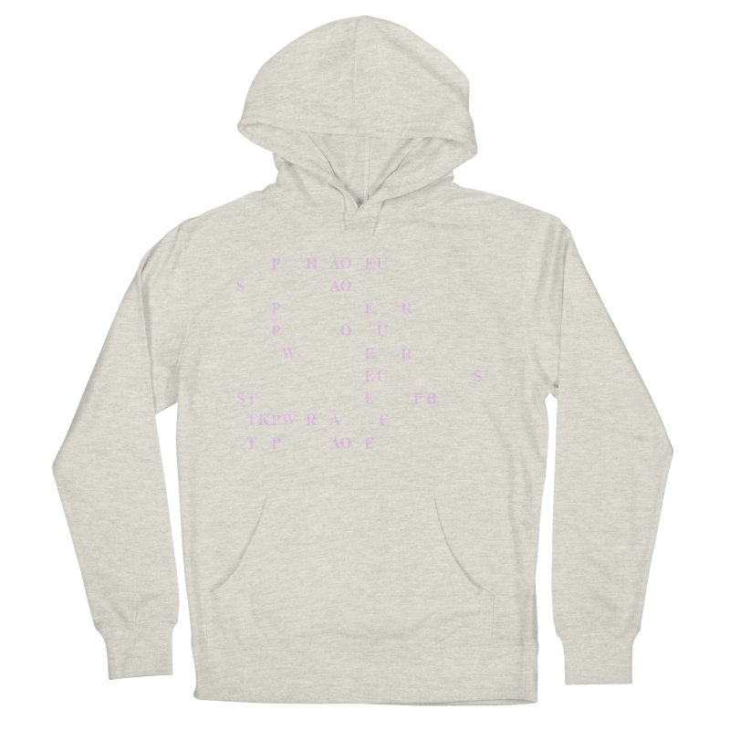 My Super Power is Stenography, Pink Women's French Terry Pullover Hoody by Stenograph's Artist Shop