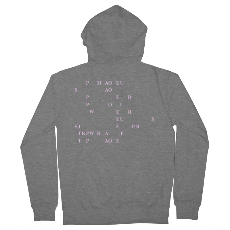 My Super Power is Stenography, Pink Women's French Terry Zip-Up Hoody by Stenograph's Artist Shop