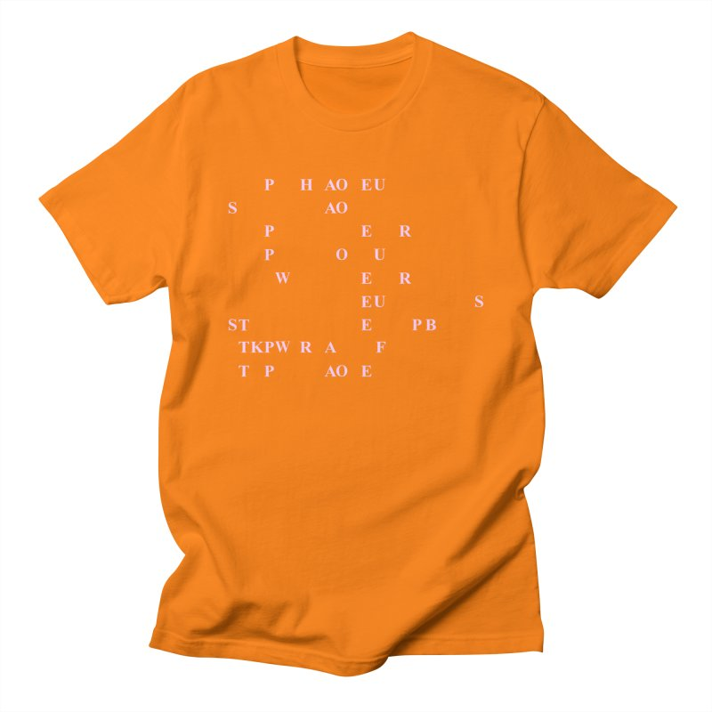 My Super Power is Stenography, Pink Men's Regular T-Shirt by Stenograph's Artist Shop
