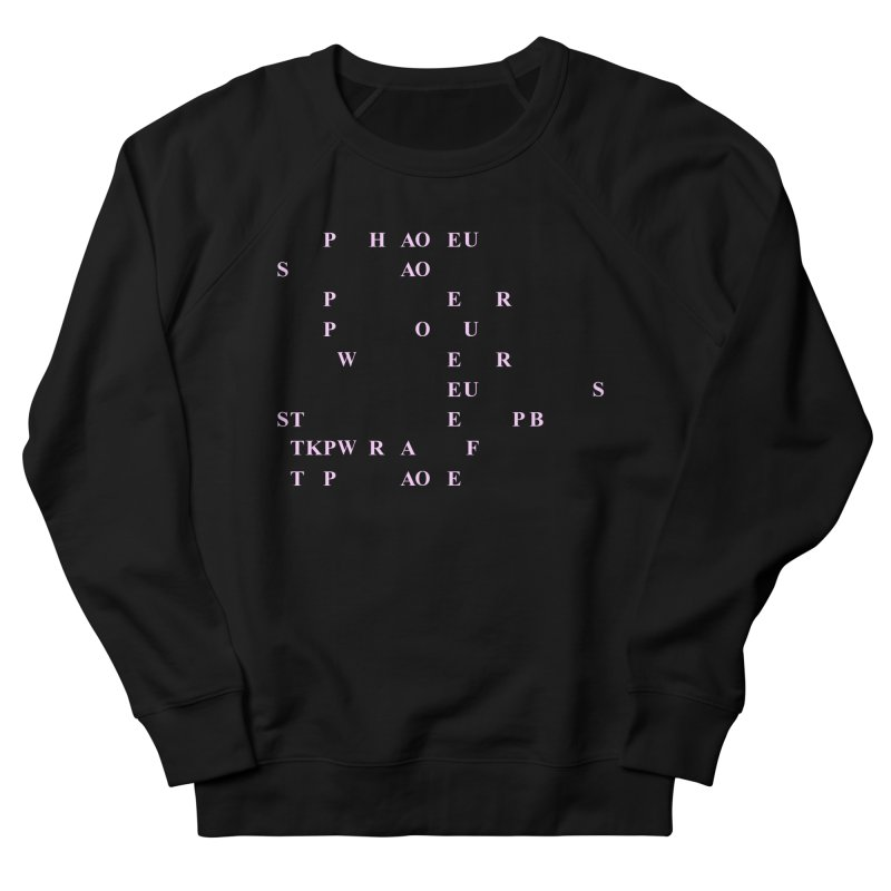 My Super Power is Stenography, Pink Women's French Terry Sweatshirt by Stenograph's Artist Shop