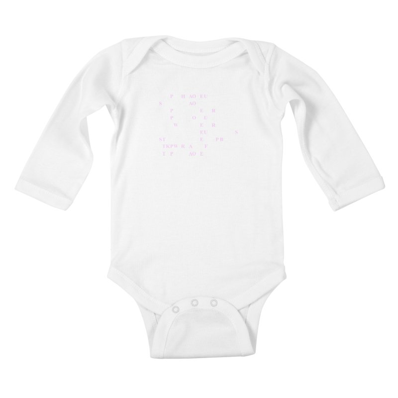 My Super Power is Stenography, Pink Kids Baby Longsleeve Bodysuit by Stenograph's Artist Shop