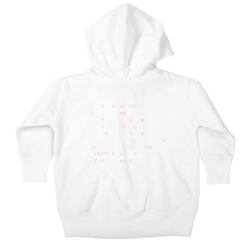 My Super Power is Stenography, Pink Kids Baby Zip-Up Hoody by Stenograph's Artist Shop