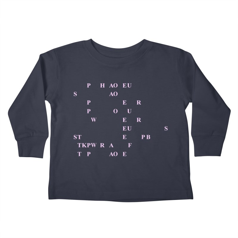 My Super Power is Stenography, Pink Kids Toddler Longsleeve T-Shirt by Stenograph's Artist Shop