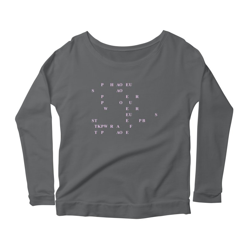 My Super Power is Stenography, Pink Women's Scoop Neck Longsleeve T-Shirt by Stenograph's Artist Shop