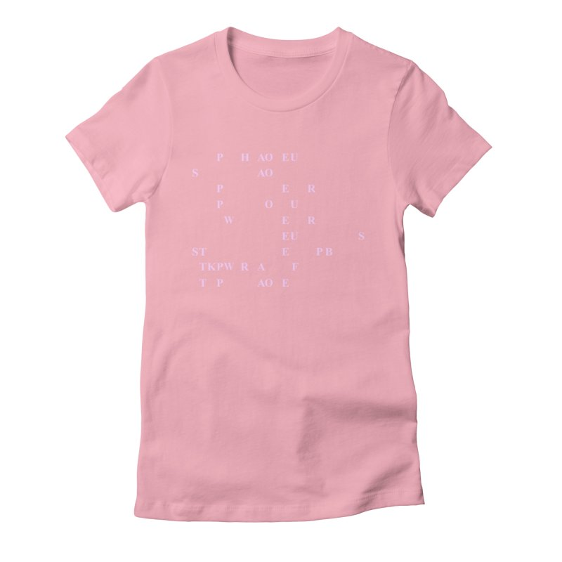 My Super Power is Stenography, Pink Women's Fitted T-Shirt by Stenograph's Artist Shop