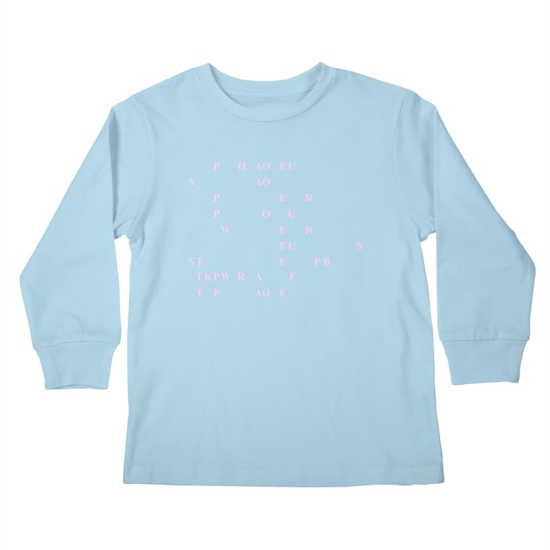 My Super Power is Stenography, Pink Kids Longsleeve T-Shirt by Stenograph's Artist Shop