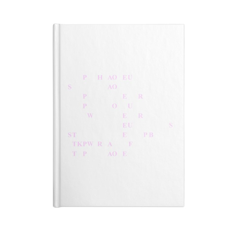 My Super Power is Stenography, Pink Accessories Lined Journal Notebook by Stenograph's Artist Shop