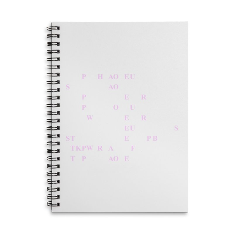 My Super Power is Stenography, Pink Accessories Lined Spiral Notebook by Stenograph's Artist Shop