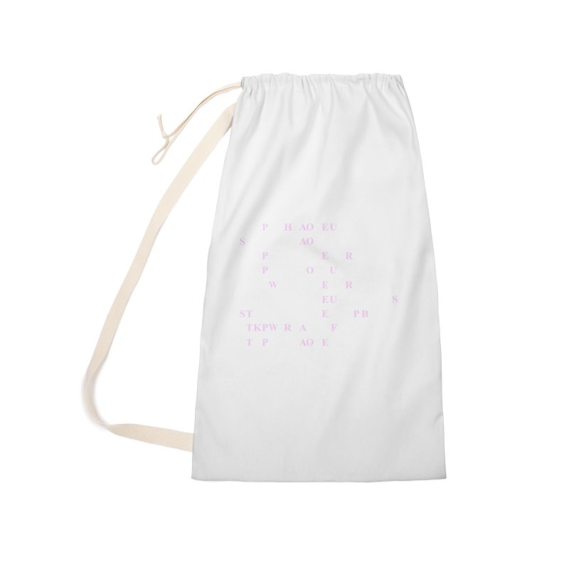 My Super Power is Stenography, Pink Accessories Laundry Bag Bag by Stenograph's Artist Shop