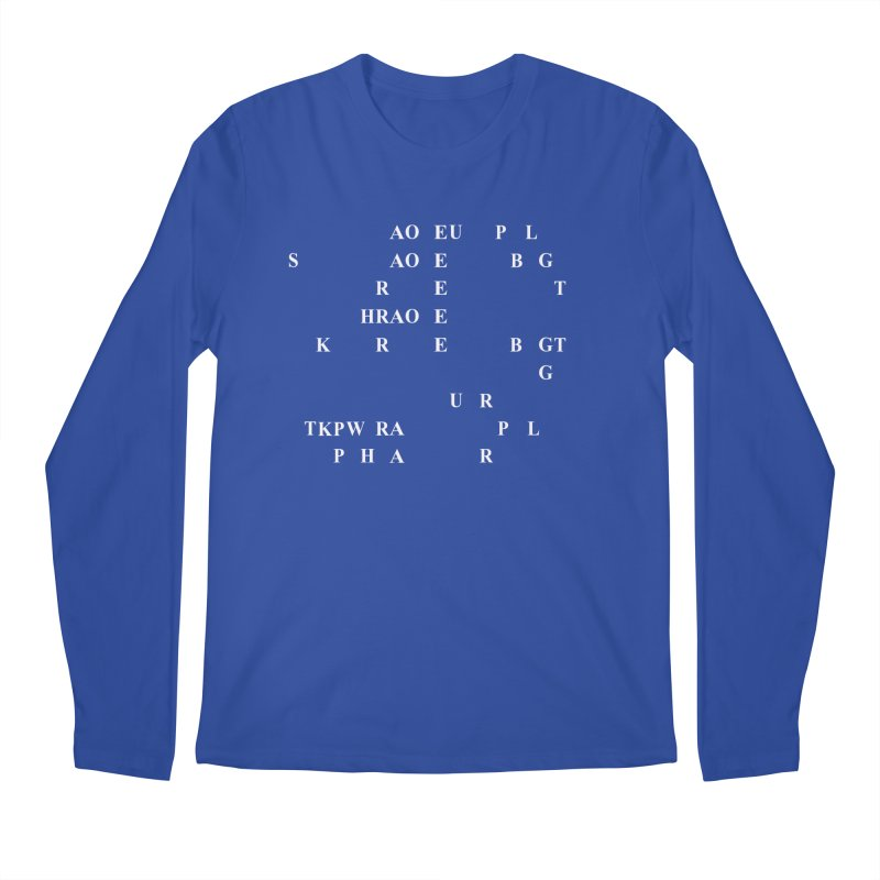 I'm Secretly Correcting Your Grammar, White  Men's Regular Longsleeve T-Shirt by Stenograph's Artist Shop