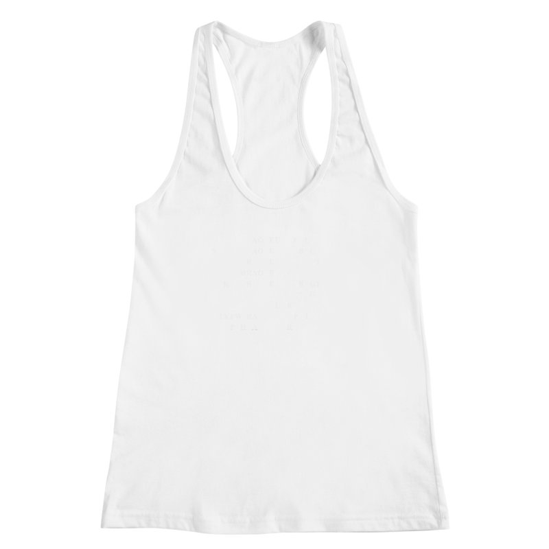 I'm Secretly Correcting Your Grammar, White  Women's Racerback Tank by Stenograph's Artist Shop