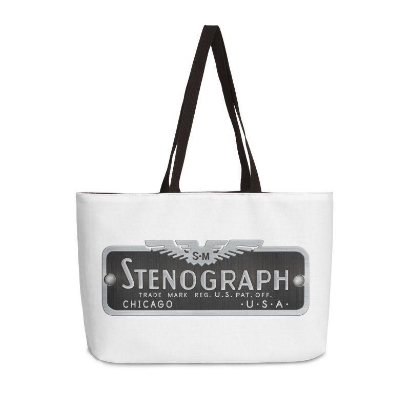 Stenograph Logo Accessories Weekender Bag Bag by Stenograph's Artist Shop
